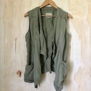 GUESS | Army Green Vest Tie Up Back & Pockets
